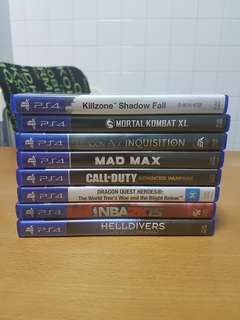 PS4 Games(Great deal!!!)