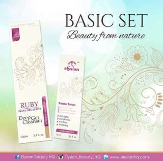 INSTOCK BASIC SET RUBY SKINCARE BY ELYSIAN