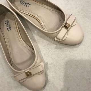 sepatu flat shoes velvet