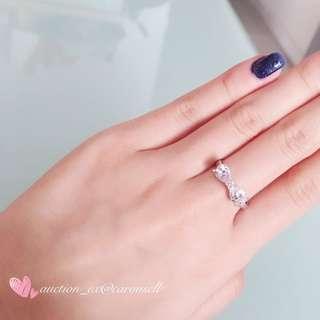 蝴蝶結水晶蘭戒指