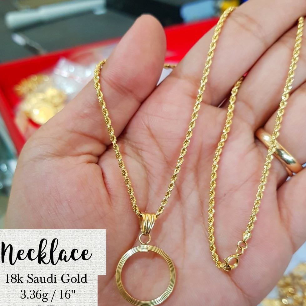 18K SAUDI GOLD NECKLACE, Preloved Women\'s Fashion, Jewelry on Carousell