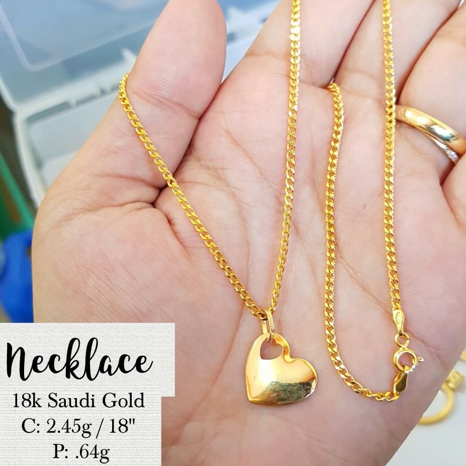 18K SPECIAL SAUDI GOLD NECKLACE, Preloved Women\'s Fashion, Jewelry ...