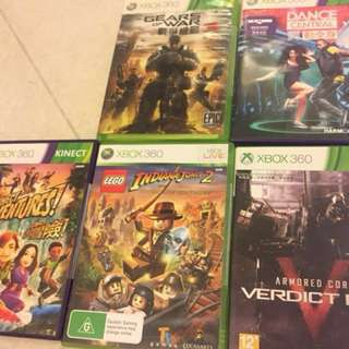 Xbox 360 二手game Gears of War 3, Dance Central, 三國無雙5, Naruto