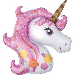 "33"" Helium Foil Balloon (Unicorn)"