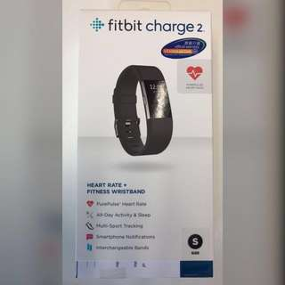 Brand new Fitbit charge 2 size S purepulse heart rate black 運動手帶