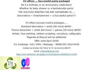 Exclusive Party Package