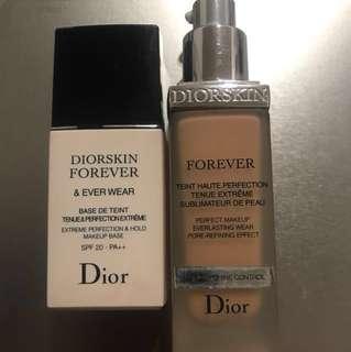 Dior forever makeup primer base & Dior forever foundation 020