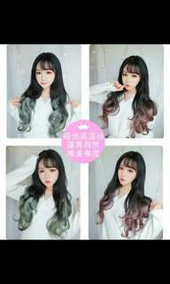 PO ombre dip dye U shape clip on ladies wig*waiting time 12 days after payment is made *pm to order