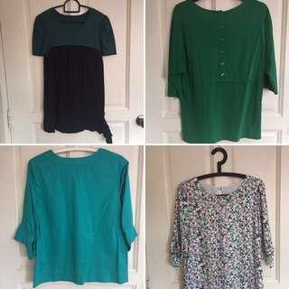 Green series blouses