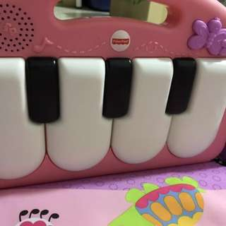 Fisher price kick and play piano gym, pink