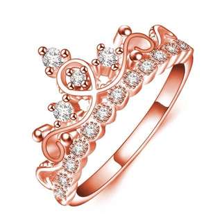 188-Rose Gold Crown Shaped Ring