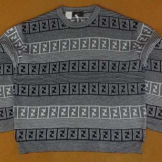 Vintage Fendi monogram sweater