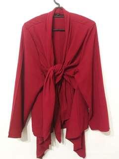 Maroon kimono