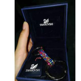 Swarovski Alice Key Ring Stainless Steel with Box