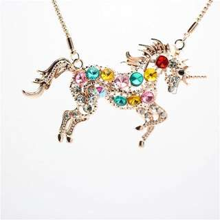 191-Colourful Unicorn Necklace