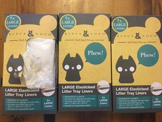 Rufus and Coco litter tray liners
