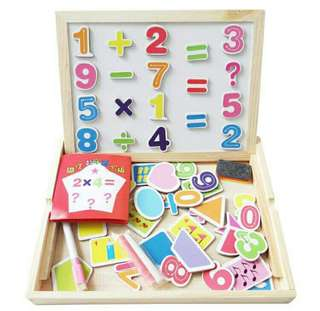 2 sided magnetic board(numbers+shape)