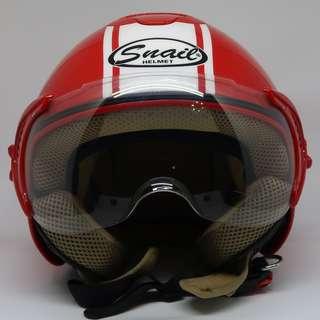 Snail Helm Half Face Retro 632 - Merah (Size L)