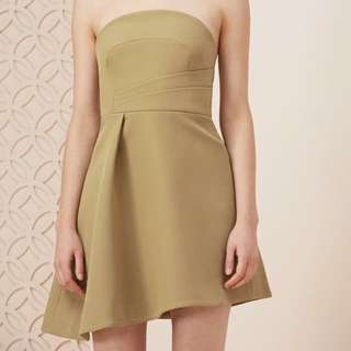 Strapless Asymmetrical Hem Dress