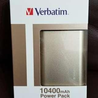 Verbatim 10400mAh Power Pack 外置充電 100%全新