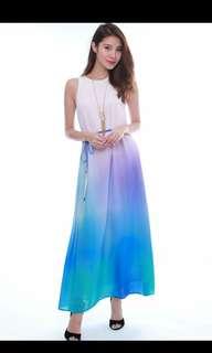 Odila Chiffon Ombre Maxi Dress