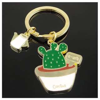 195-Potted Cactus Keychain