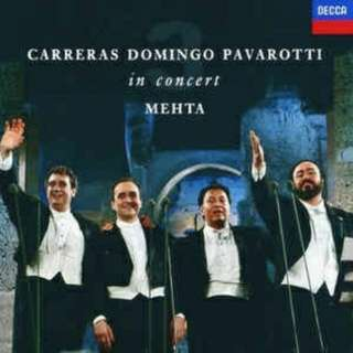 arthcd CARRERAS DOMINGO PAVAROTTI in Concert Mehta CD