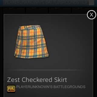 Pubg Zest checkered skirt
