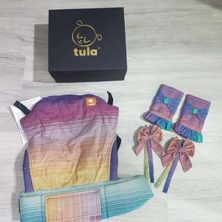 BNWT Standard Tula Wrap Conversion Gris Medio Weft 2 with accessories