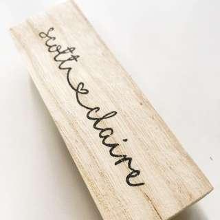 Handmade Couple Name/ Wedding Stamp
