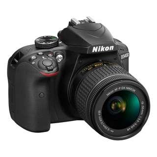 Nikon D3400 Camera + Nikkor AF-P 18-55mm VR lens Brand New (Free Gift - Sandisk 16GB SD Card, Nikon Camera Bag, 30L Dry Cabinet)
