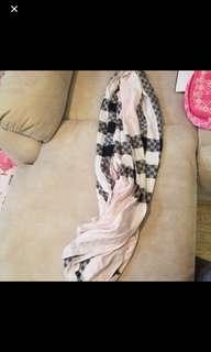 Burberry scarf 粉紅色格子 絲巾 頸巾 披肩
