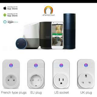 Wifi smart plug socket