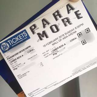 PARAMORE TICKET TOUR6