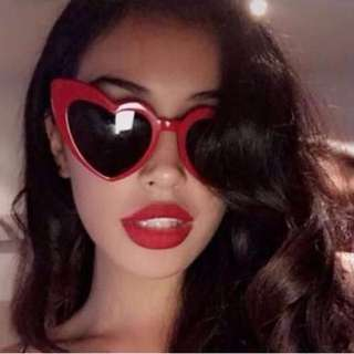Heart Shaped Sunnies (RED)