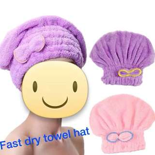 Brand new FAST DRY towel hat