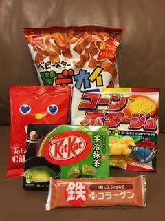 日本零食套裝 (5款)
