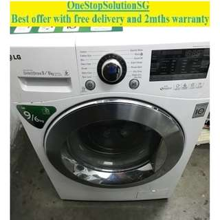 LG 9.0KG washer dryer 2 in 1 ($500 + FREE delivery & 2mths warranty)