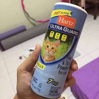 Bedak kutu / Hartz ultra guard flea & tick powder 113gr