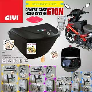 0803**--GIVI Front Box G10N With Key Lock...Yamaha Sniper, Yamaha jupiter, Spark, Yamaha 125Z, Yamaha Sniper 150, Honda Wave Etc.