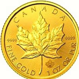 MAPLE LEAF GOLD COIN 24K AVAILABLE FOR SALE