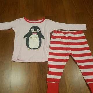 Preloved Osh Kosh B'gosh Penguin Pyjamas (18 months)