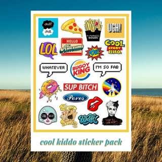 COOL KIDDO STICKER PACK - PREMIUM VINYL STICKERS