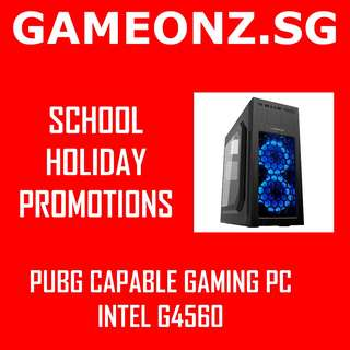 PROMO SCHOOL HOLIDAYS PUBG GAMING PC DESKTOP RIG INTEL G4560 8GB GTX 1050 TI GTX1050 GTX1050TI BUDGET AFFORDABLE GMAX PUBG OVERWATCH LOL CSGO ESPORTS FIFA BATTLEFIELD