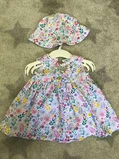 Baby Dress + hat