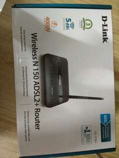 D link adsl wireless router .