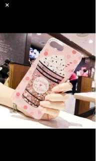 Unicorn coffee frappe glitter iphone 8 cover brand new