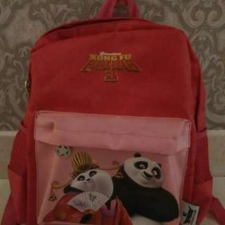 Pink colour Kung Fu Panda bag