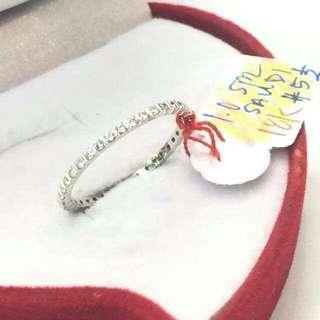 Sale!!! 18k white saudi gold ring