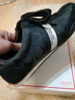 Coach woman black sneaker